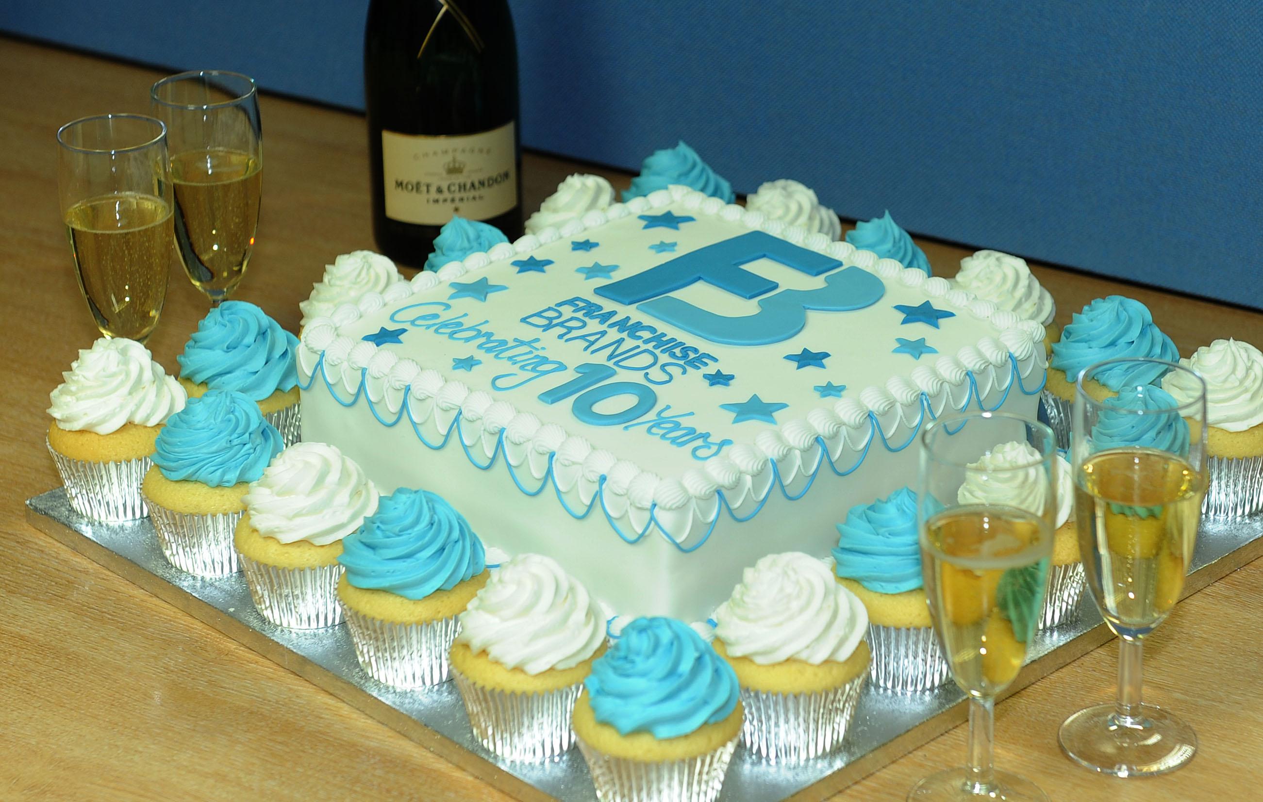 Franchise Brands Anniversary Cake