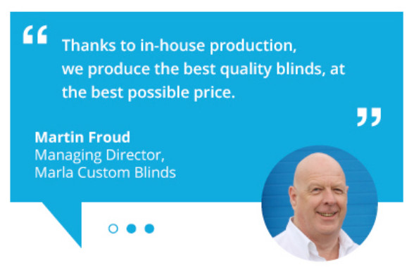 Marla Custom Blinds owner and found Martin Froud