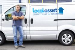 A franchiser and work van