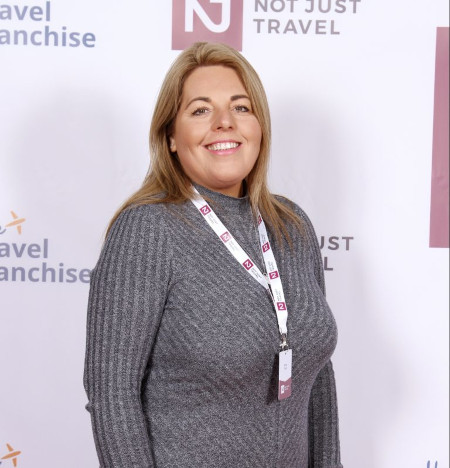 Nicola at one of The Travel Franchise events