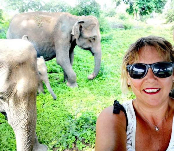 The Travel Franchise Zoe on a safari in Sri Lanka