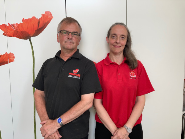 Rob Piper MD of Poppies Liverpool with Office Manager Michaela Holden