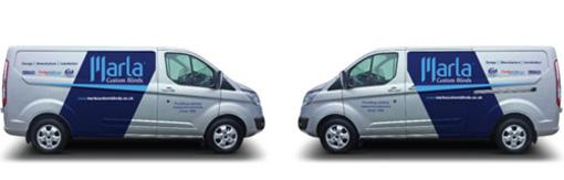 Marla Custom Blinds franchise vans