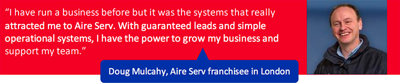 Aire Serv Franchisee testimonial for the London Franchise Territory