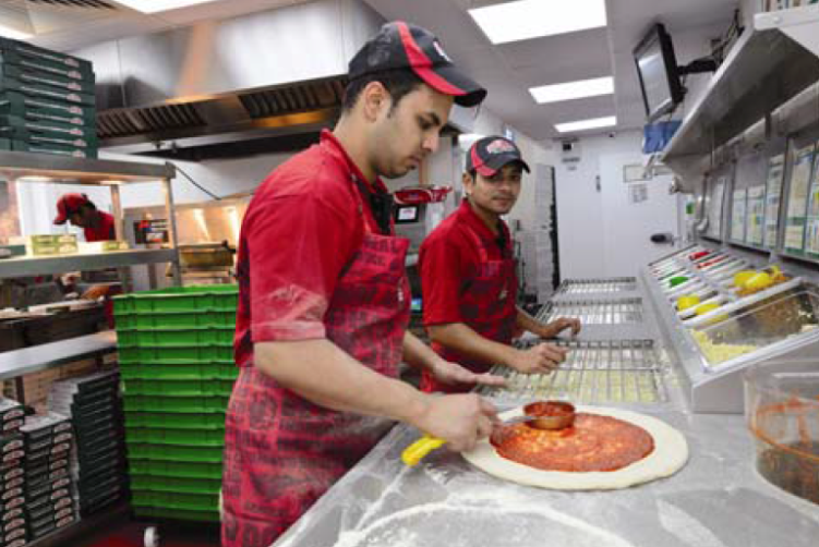 Papa John's pizza Franchise training